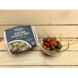 Olive Verdi Schiacciatelle Condite